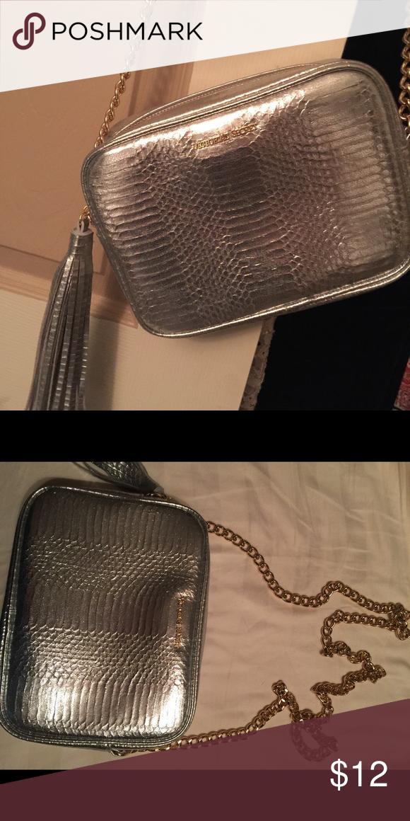 a93f2db701f7d NEW Victoria Secret CB bag Silver Victoria's Secret cross body Bag ...
