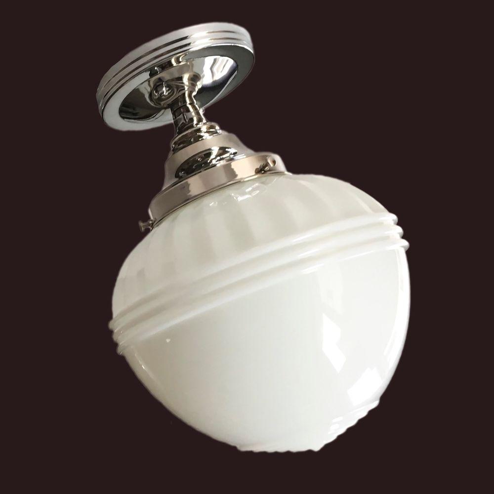 Milk Glass Shade Vintage 1930 S Art Deco Ceiling Light Fixture Skyscraper Globe Milk Glass Chandelier Ceiling Lights Antique Chandelier