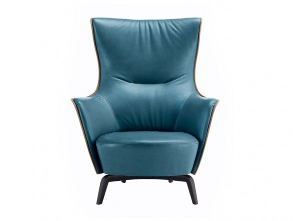 Poltrona Frau Mamy Blue Armchair Coastal Style Furniture Blue Lounge Chair Blue Armchair