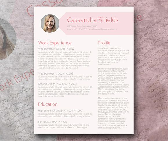 Blush  Pixie Word Resume Resume, Blush and By