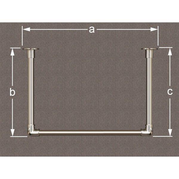 garderobenstange aus edelstahl in u form garderobenstange u form pinterest edelstahl und. Black Bedroom Furniture Sets. Home Design Ideas