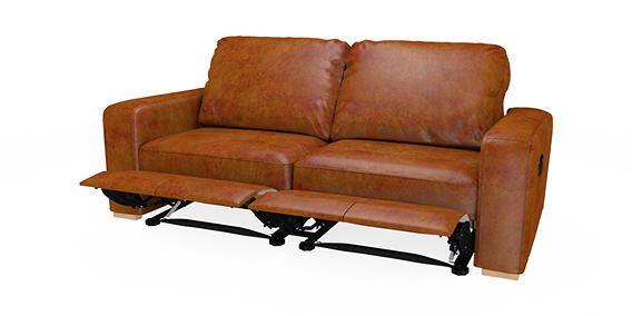 Armitage Leather Recliner Large Sofa Seats Cuba Dark Tan Corner Foot Light From The Next Uk Online