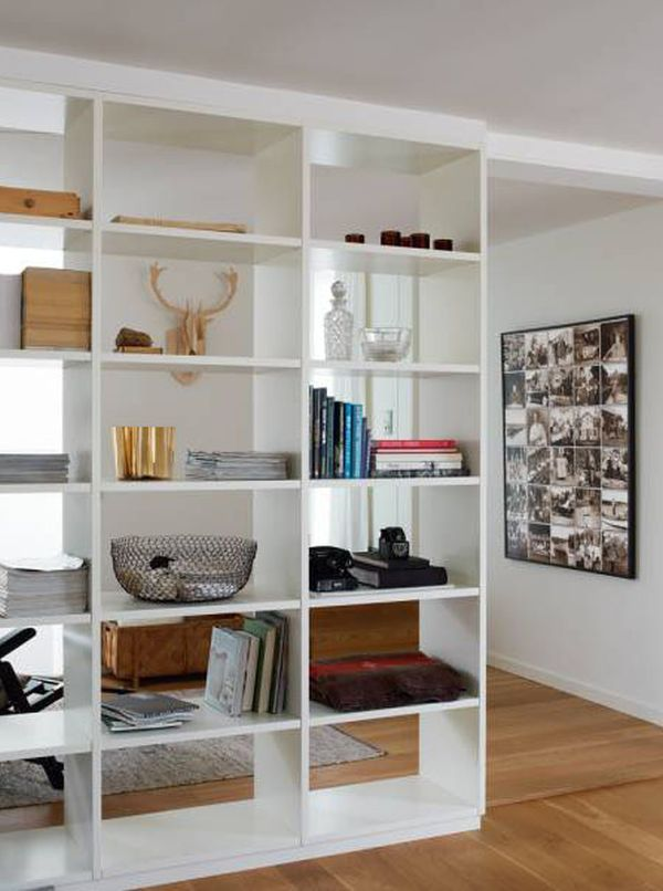 nifty view bookcase ample associates gallery dividers bulhon the display divider living bookshelf half offers design room saving for with in wall space