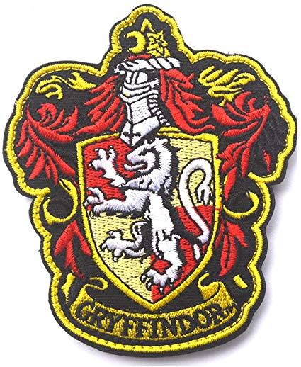 Amazon Com Harry Potter House Of Gryffindor Crest Slytherin Ravenclaw Huflepuff And Hogwarts Embroidered Patch A Gryffindor Crest Hogwarts Crest Gryffindor
