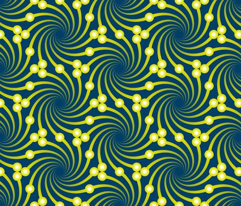 firefly swirls fabric by sef on Spoonflower - custom fabric