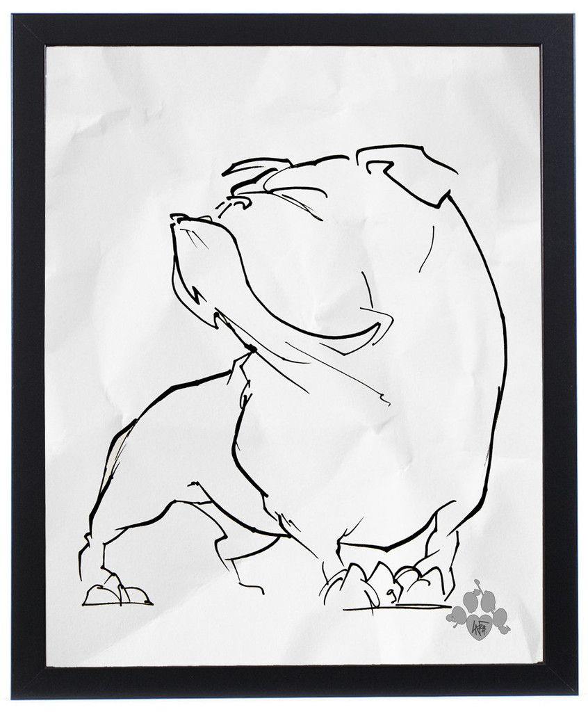 The Gesture Sketch Collection Bulldog Art Print English Bulldog Art Bulldog Art