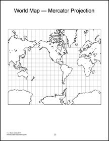 Mercator projection map world globe maps mercator projection mercator projection map world globe maps mercator projection blank world map gumiabroncs Gallery