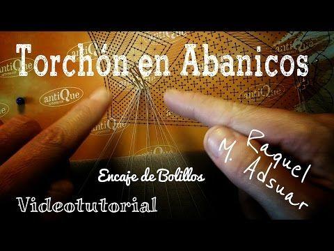 Realizar Torchón en Abanicos de Encaje de Bolillos - YouTube