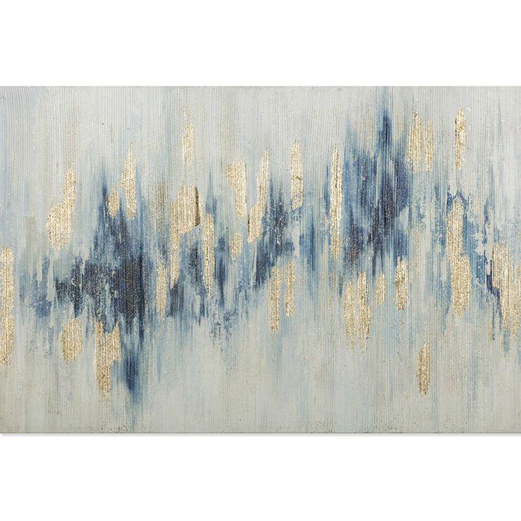 36x24 Blue White Glitter Abstract Canvas Art Abstract Canvas Wall Art Canvas Wall Art Abstract Canvas