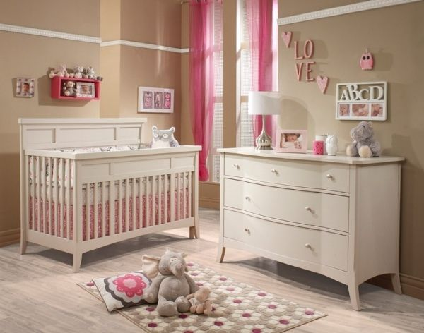 baby kinderzimmer vorh nge rosa rot kinderzimmer pinterest vorhang rosa baby kinderzimmer. Black Bedroom Furniture Sets. Home Design Ideas