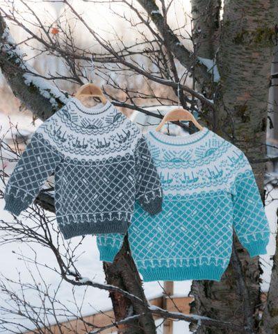 dca6a348 Finnmarkgenseren med rundfelling til barn str. 4 og 8 år | knitting  inspiration | Genser, Strikking og Strikkeoppskrift