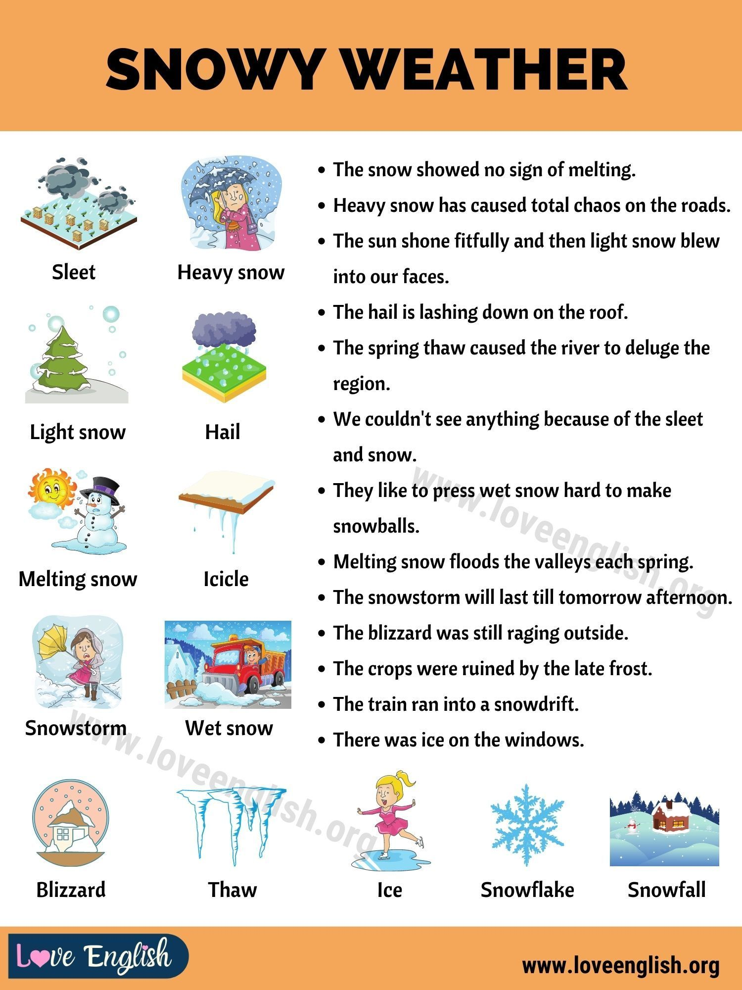 Snowy Weather How To Express Snowy Weather In Sentences Love English Snowy Weather Weather Vocabulary Weather In English [ 2000 x 1500 Pixel ]