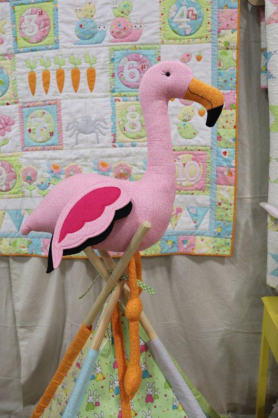 Plush flamingo pdf, flamingo sewing pdf, diy flamingo pattern ...