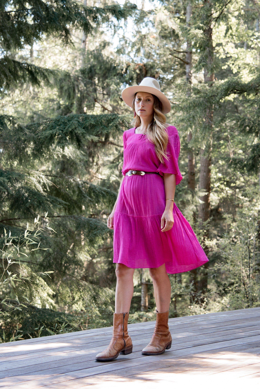 70s Cotton Gauze Dress Pink Flutter Sleeve Caftan Dress Boho Etsy Boho Midi Dress Cotton Gauze Dress Summer Festival Dresses [ 3000 x 2003 Pixel ]