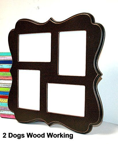 collage picture frame 4 opening for 8x10 images mix of vertical and horizontal whimsical large