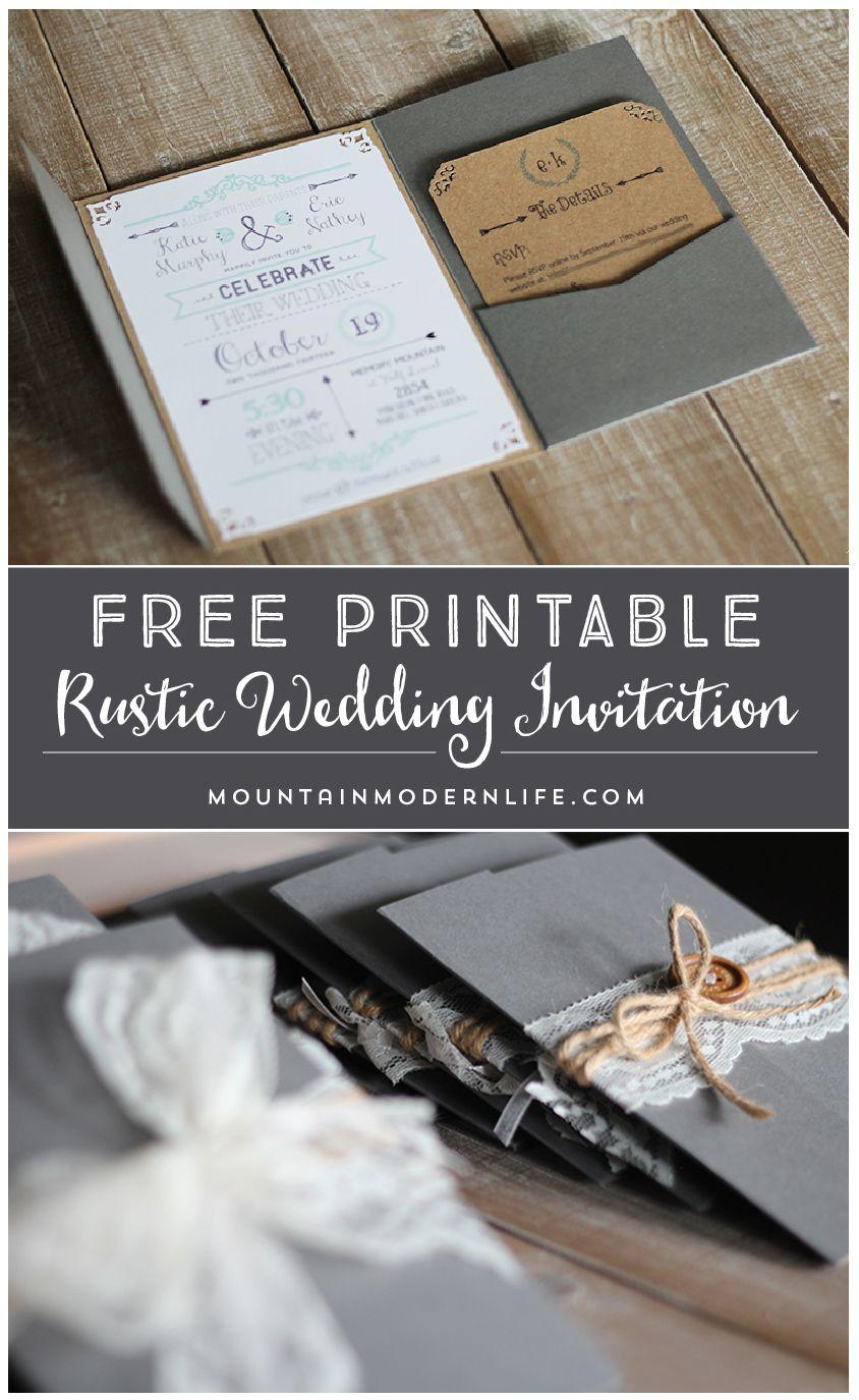 Free Printable Wedding Invitation