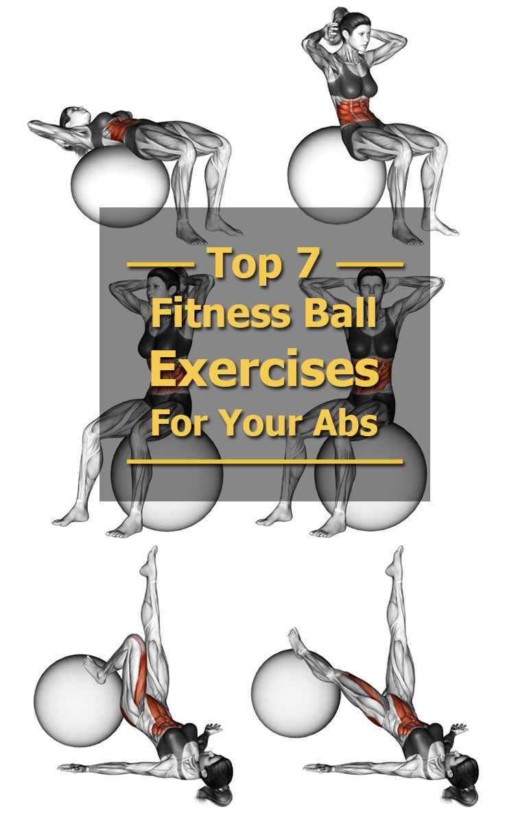 Top Exercise Ball Ab Workouts - The Health Science Journal #exerciseball