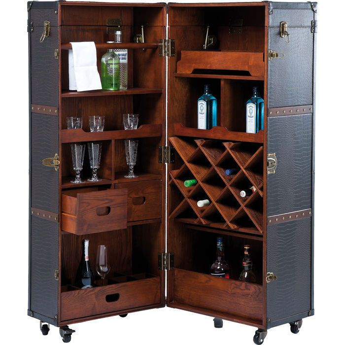Wardrobe Trunk Bar Colonial A journey back to the old seafarer days - With its…