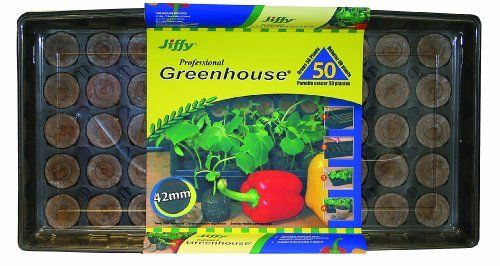 Jiffy 5718 Professional Greenhouse 50-Plant Starter Kit by Jiffy. $13.98. Indoor Gardening. Greenhouse Gardening. Jiffy 50 Plant (42 mm)  greenhouse. Save 30% Off!