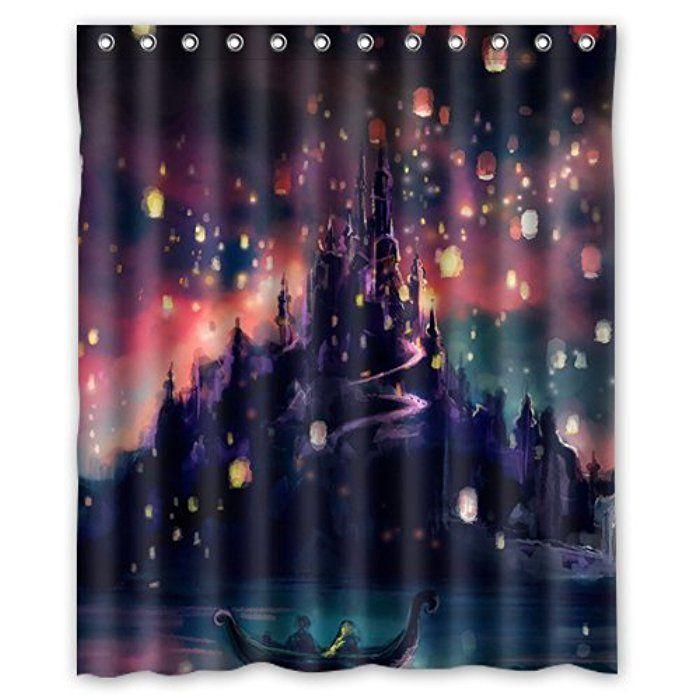 Disney Rapunzel Tangled Lanterns Custom Shower Curtain 60 X 72