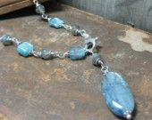 $26.00 Kyanite and Labradorite Sterling Silver Necklace