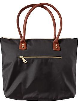 b2b7c0a4ff47 Women s Zip-Pocket Canvas Totes