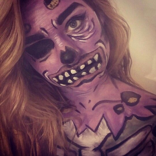 Pop art zombie inspired by Mykie from the glam and gore youtube channel
