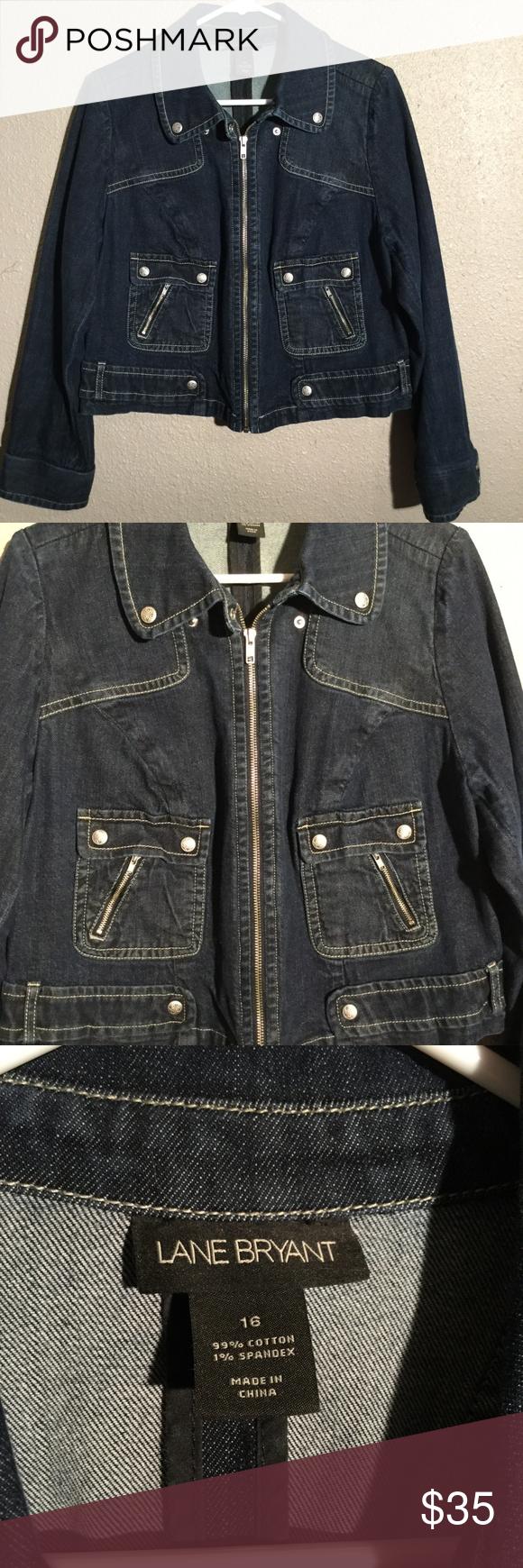c870bdaf4b619 Lane Bryant Women Crop Denim Jacket Plus size 16 EUC Denim Jacket by Lane  Bryant. Women s Plus size 16. This jacket is a shorter crop length.
