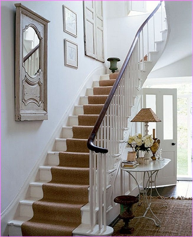 Beautiful Front Hall And Staircase: Beautiful Sisal Stair Runner