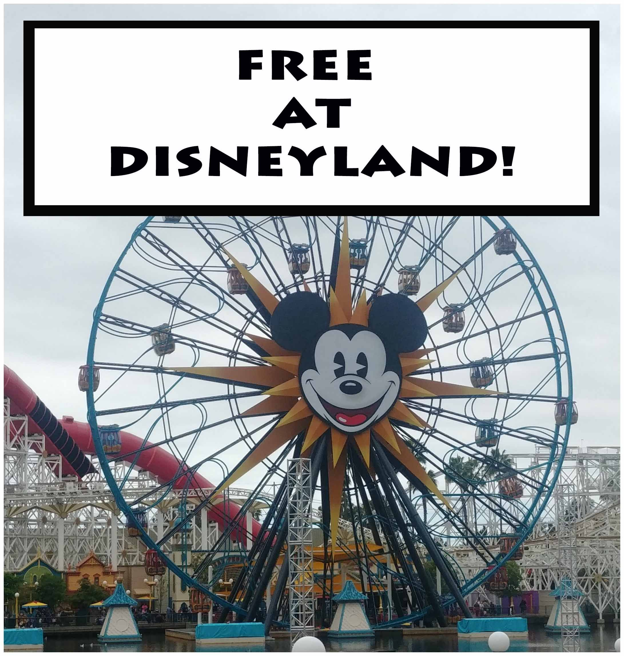 Free Stuff At Disneyland Theme Parks