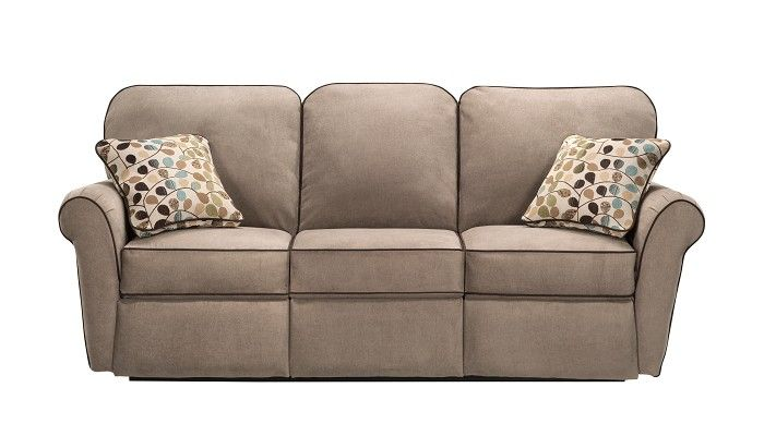 Slumberland Furniture Jenna Collection Taupe Reclining Sofa Attress S