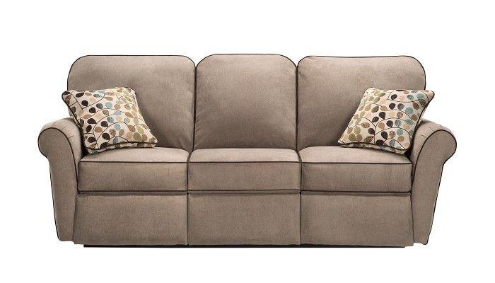 Slumberland Furniture Jenna Collection Taupe Reclining Sofa Attress S