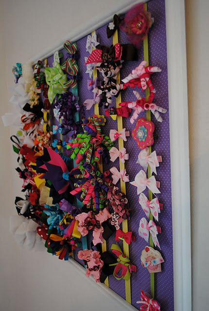 Thrift Store Frame To Hair Bow Holder Organization Hair Bow