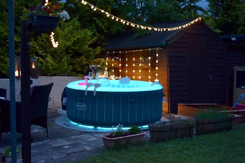 Lights Make A Difference Hot Tub Backyard Hot Tub Gazebo Inflatable Hot Tubs