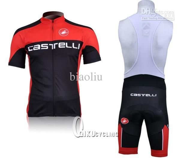 f5464d9c4 Wholesale Castelli Cycling - Buy CASTELLI Black red 2011 Cycling Jersey And  Bib Shorts Set Cycling Wear Clothing High Quality