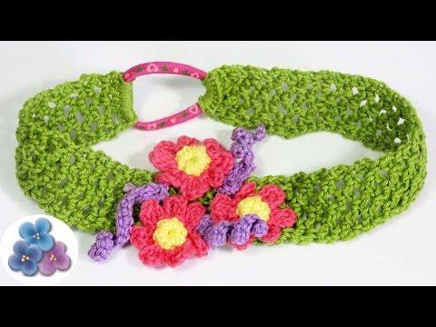 hoy hacemos diademas de flores que son manualidades fciles de hacer en casa en este vdeo te enseo cmo hacer diademas tejidas a crochet decoradas con - Como Hacer Diademas De Flores