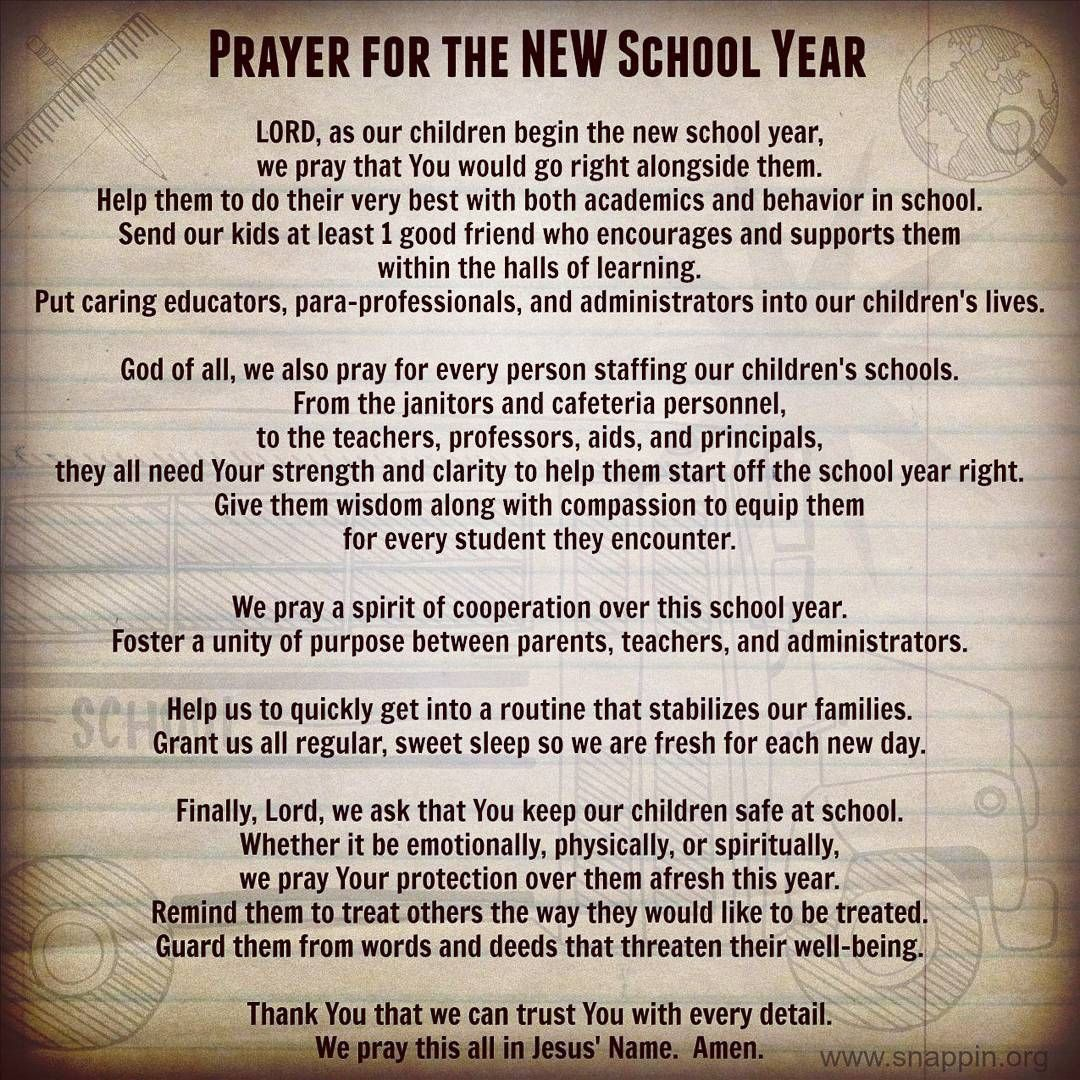 Image result for prayer for the new school year