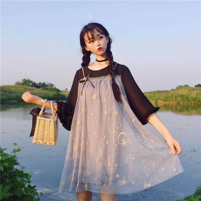 Moonbeam Mesh Dress