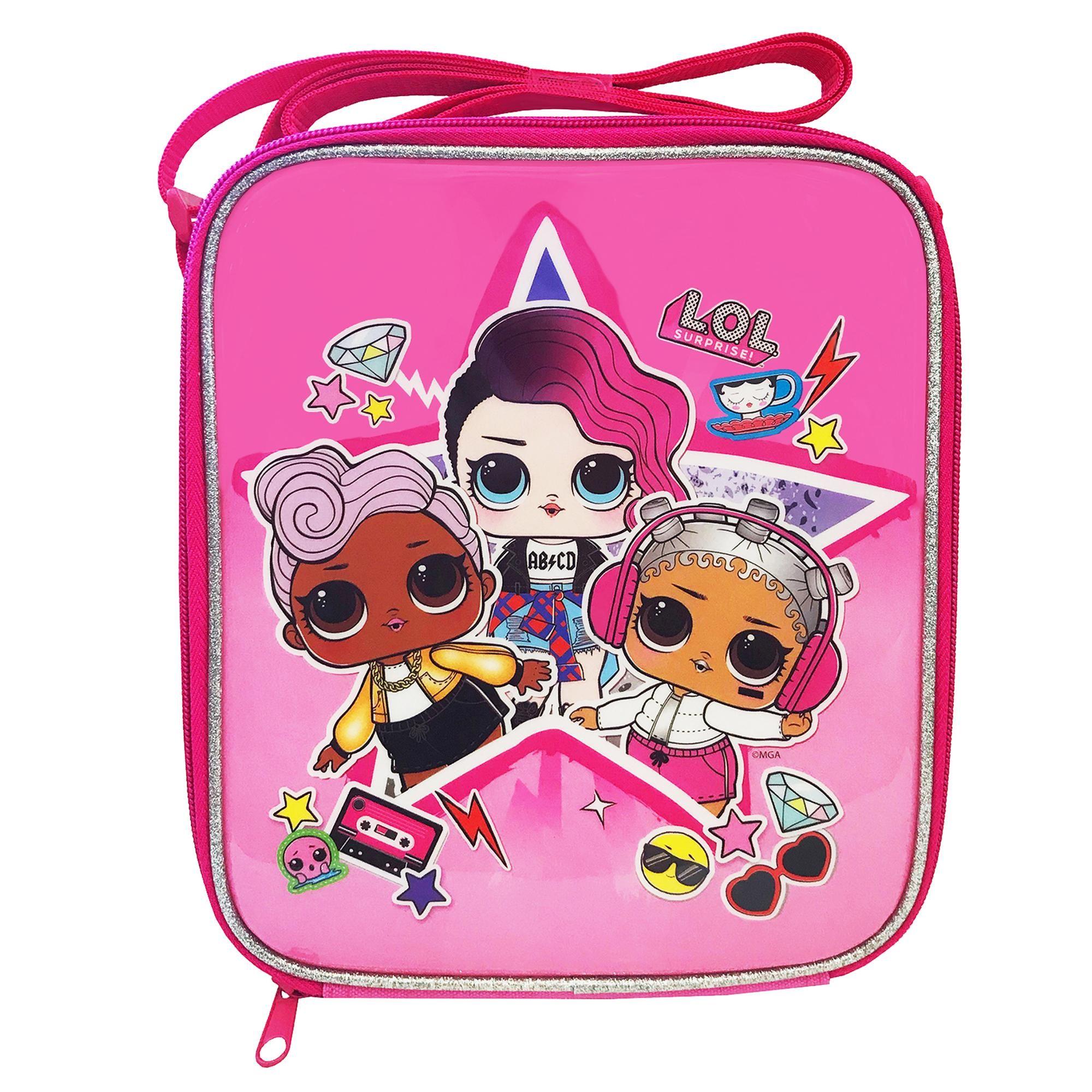 Marvel Avengers  Lunch Bag Set 3 Piece Drinks Bottle Box Bag School Travel Zip