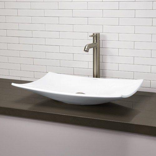 Charming DecoLav D1443CWH Vessel Style Bathroom Sink   White At Ferguson.com
