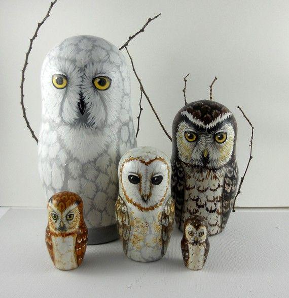 owl nesting dolls