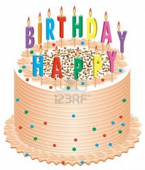Happy Birthday Cakes Candles Clip Art Shapes