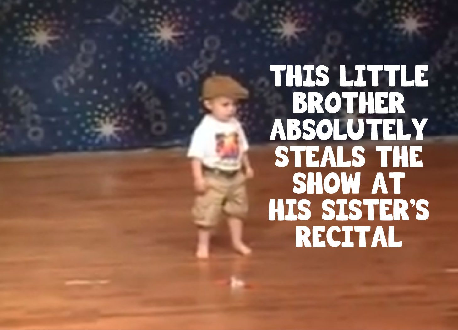 This little brother absolutely steals the show at his sister's recital!