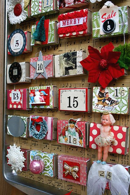 Advent Calendar.. from a cookie tin