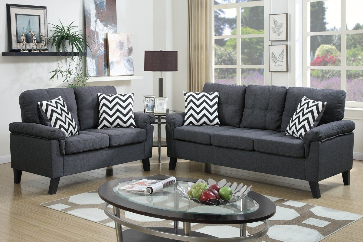 Sofa Loveseat Combo With Accent Pillows Sofa And Loveseat Set
