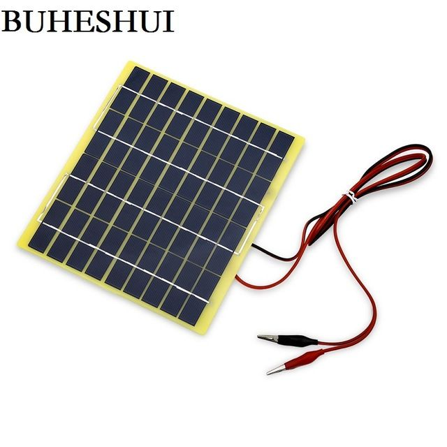 Buheshui 5watt 5w 18v Solar Cell 5 Watt For 12 Volt Garden Fountain Pond Battery Charger Diode Pet Solar Pane Solar Panels Best Solar Panels Used Solar Panels