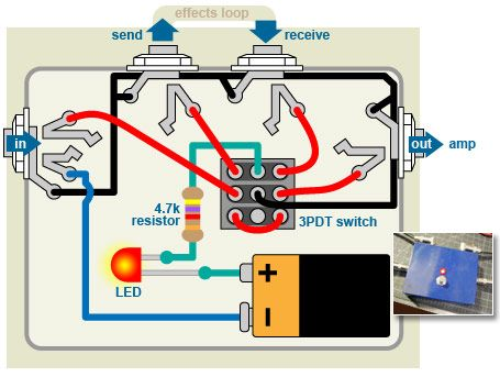 5f8c53cd9b3c1ccae398d58079af348c diagram bypass pedal wiring electronics pinterest guitars effects pedal wiring diagram at soozxer.org