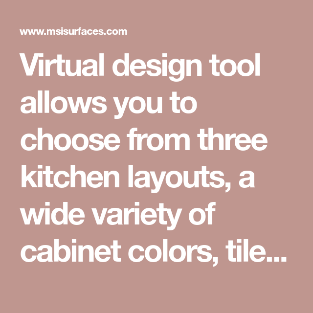 Virtual Design Tool Allows You To Choose From Three