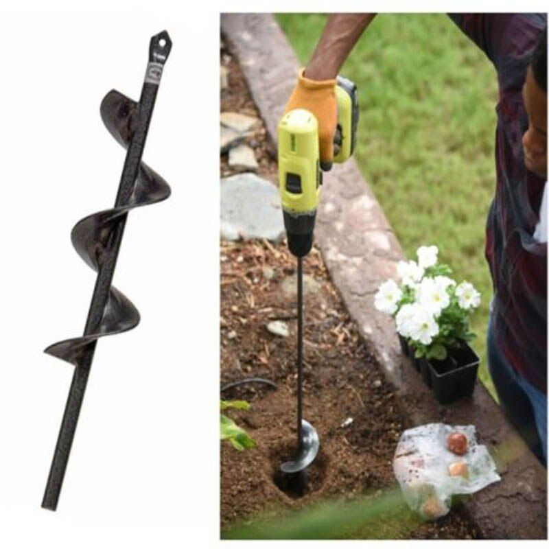 9/'/' Planting Auger Spiral Hole Drill Bit For Garden Yard Earth Bulb Planter New