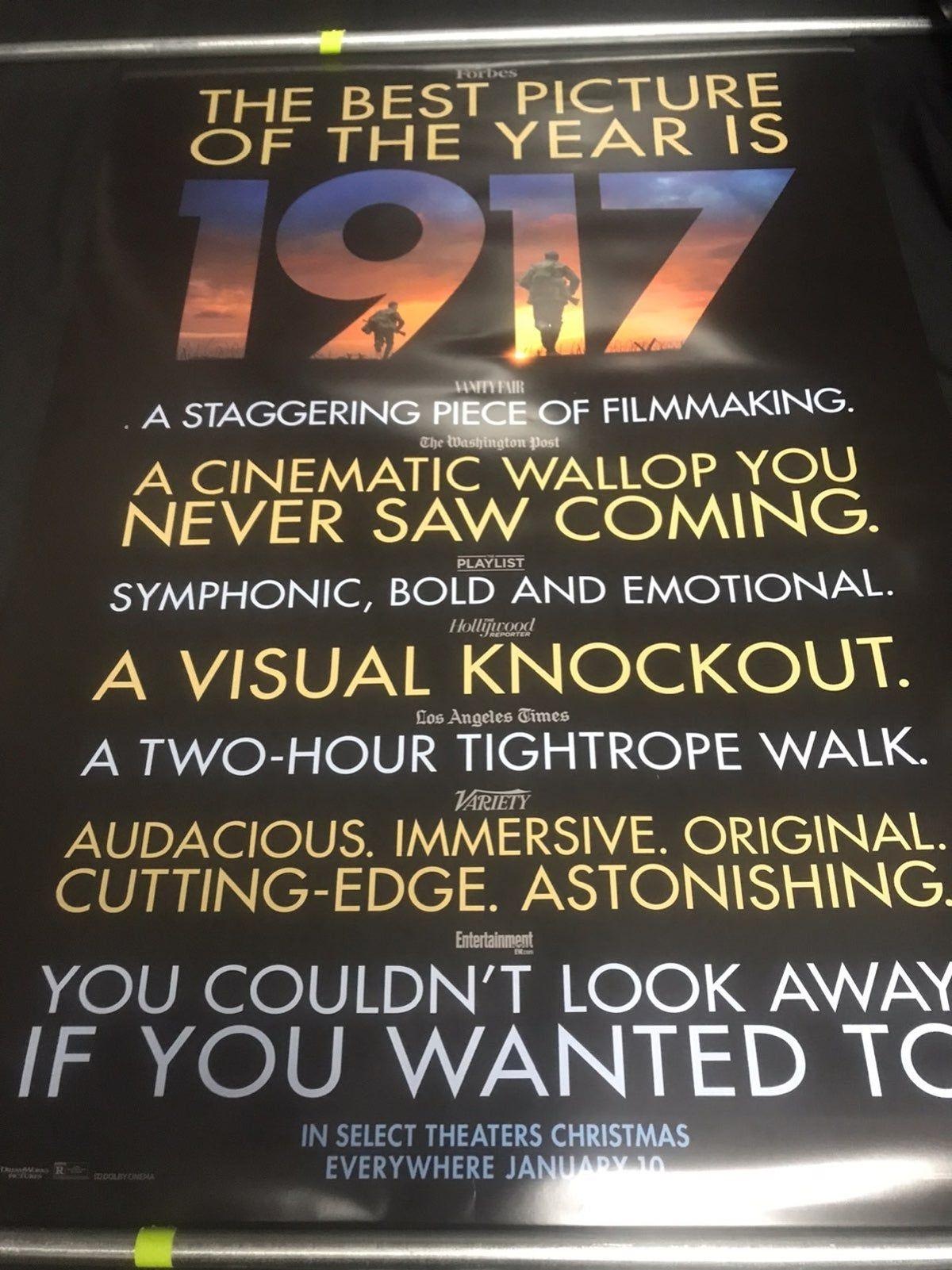 1917 Movie Poster Movies Movie Posters Good Movies